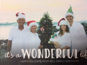 Bell Family on the beach Christmas