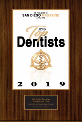 plaque for top dentist carlsbad